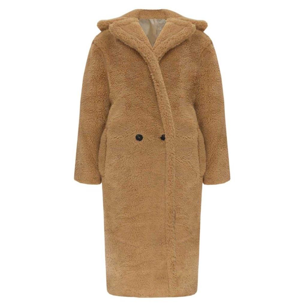 Jess teddy coat camel