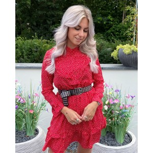 Madelief dress red
