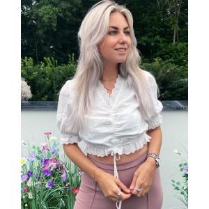 Nora top white