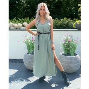 Lesley maxi dress green