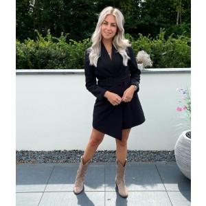 Lois blazer dress black