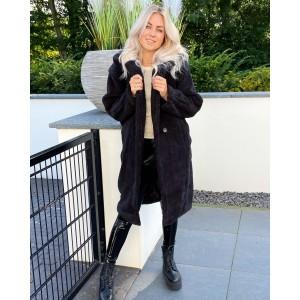 Jess teddy coat black