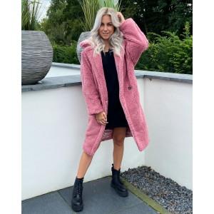 Jess teddy coat light pink