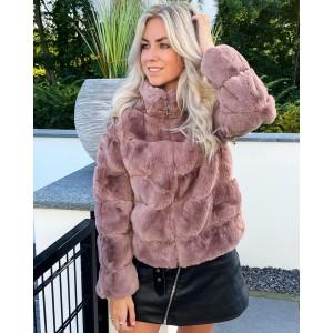 Sylvie faux fur jacket old pink