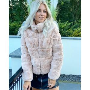 Sylvie faux fur jacket light pink