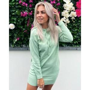 Noortje hoodie dress green