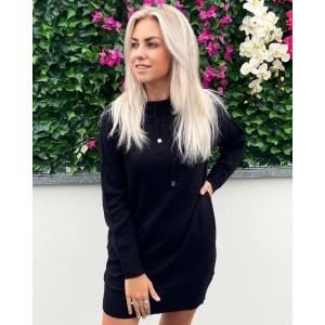Noortje hoodie dress black