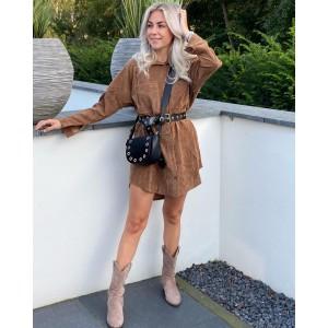 Maud dress camel