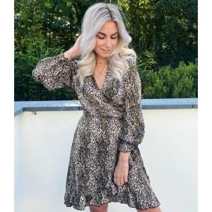 Kyla leopard dress green