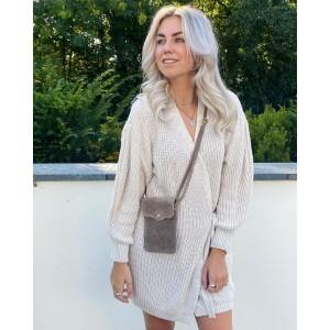 Floor sweater dress creme