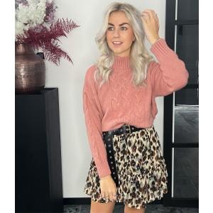 Nola leopard skirt