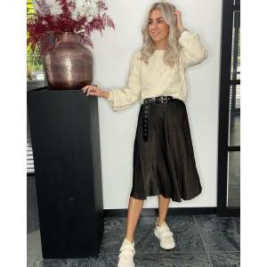 Renate satin skirt brown