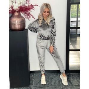 Gigi velvet pak grey