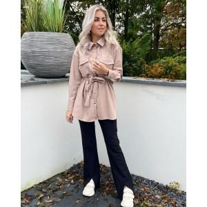 Jojo leather jacket light pink