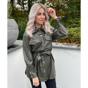Jojo leather jacket green
