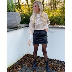 Nitsa leather skirt black