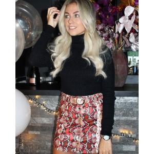 Ryla leather skirt