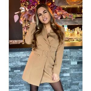 Kelly blazer dress camel