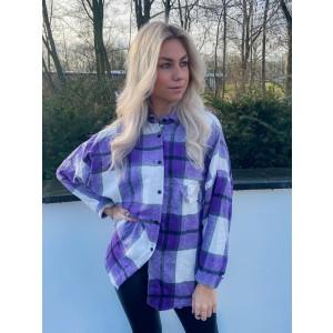 Jonna checkered blouse purple