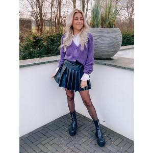 Tara plissé skirt black