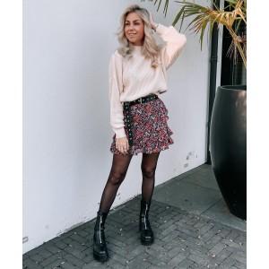 Nina flower skirt red