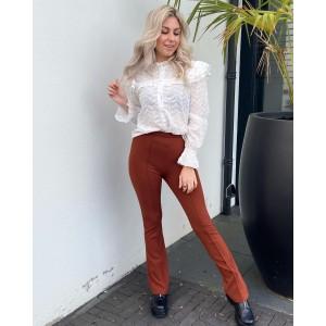 Kaylee pantalon flared camel