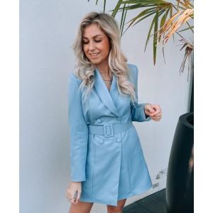 Kelly blazer dress ice blue