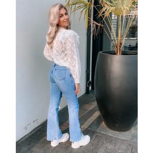 Flora blouse white