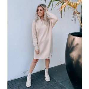 Lisa sweater dress taupe