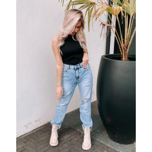 Vera mom jeans blue