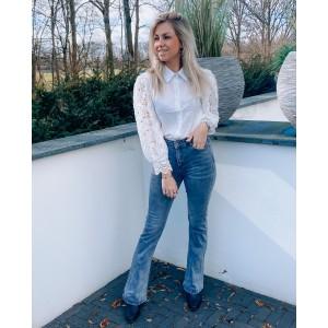 Veerla flared jeans grey