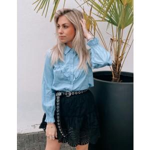 keely denim blouse