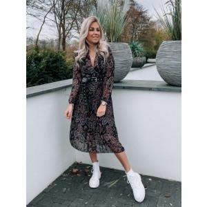 Luca plissé dress paisley