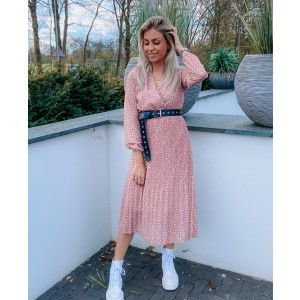Luca plissé dress old pink