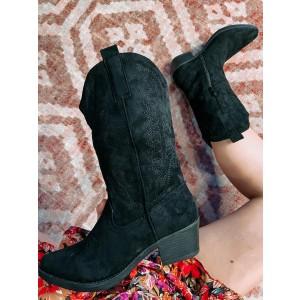 Lexi suede boots black
