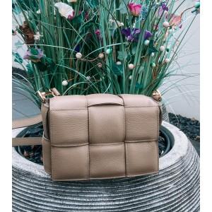 Mayee leather bag taupe