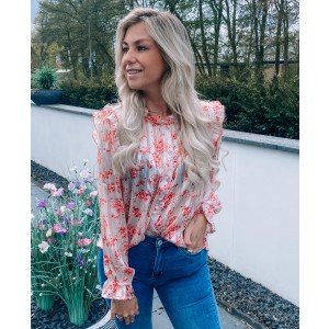 Tyria flower blouse pink
