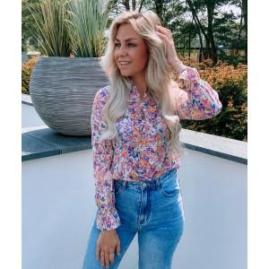 Tatum flower blouse light pink