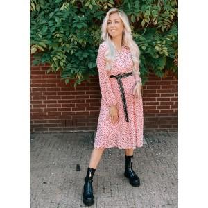 Luca plissé dress dots light pink