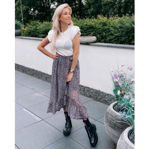 Kenya ruffle skirt lila/black