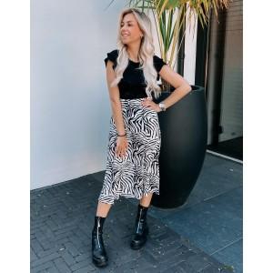 Noortje skirt zebra black/white