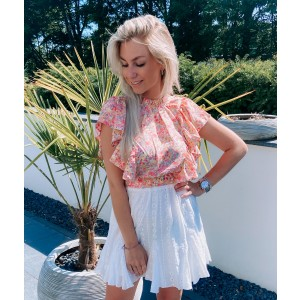 Kitty flower top pink
