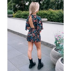 Karine flower playsuit black
