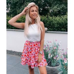 Kola flower skirt red/pink