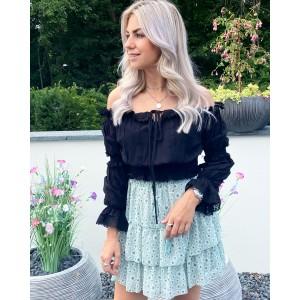 Kaylee flower skirt green