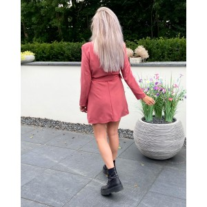 Lois blazer dress rouge