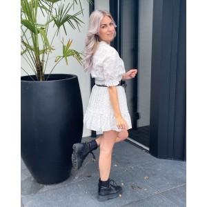 Linda skirt white/black