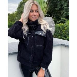 Bobbie teddy jacket black