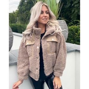 Bobbie teddy jacket taupe