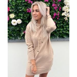Noortje hoodie dress camel